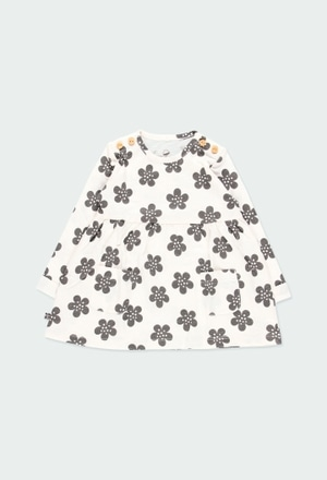 Knit dress floral for baby ORGANIC_1