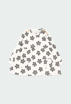 Vestido punto flores de bebé ORGANIC_1