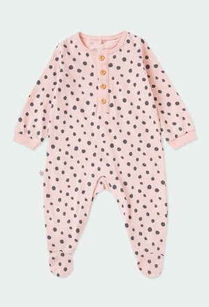 Babygrow malha bolinhas do bébé ORGANIC_1
