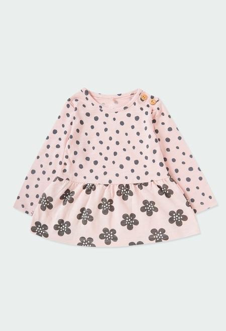 Vestido malha flame para o bebé menina ORGANIC_1
