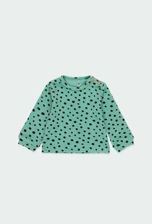 Sweat-Shirt plüsch polkatüpfel für baby ORGANIC_1