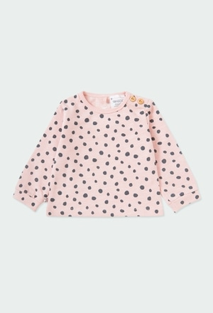 Fleece sweatshirt polka dot for baby ORGANIC_1