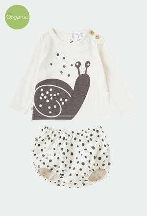 """Pack en tricot """"escargot"""" pour bébé ORGANIC_1"""