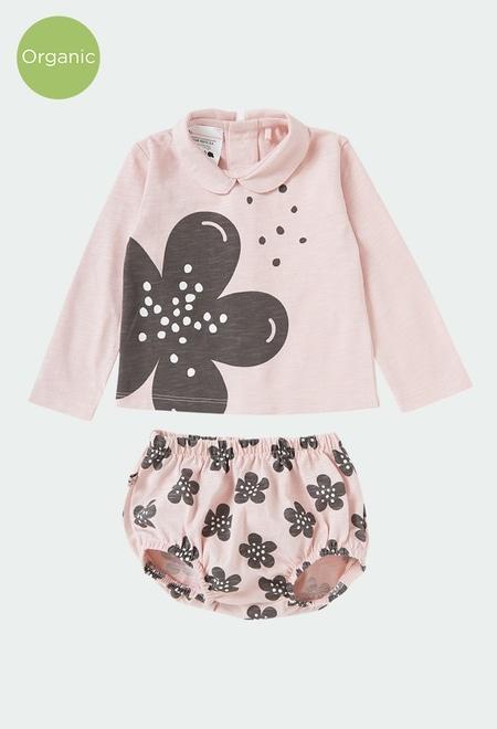 """Pack punto """"floral"""" de bebé ORGANIC_1"""