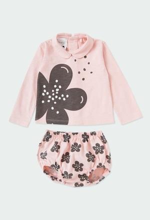 """Pack en tricot """"a fleurs"""" pour bébé ORGANIC_1"""
