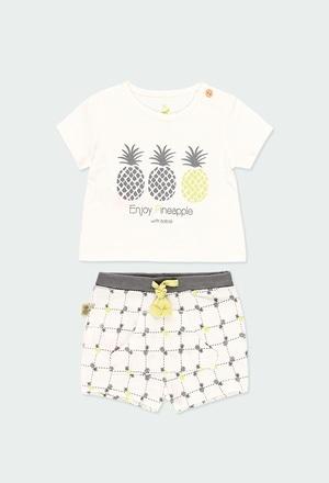 Pack en tricot ananas pour bébé ORGANIC_1