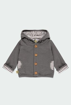 Fleece jacket flame for baby ORGANIC_1