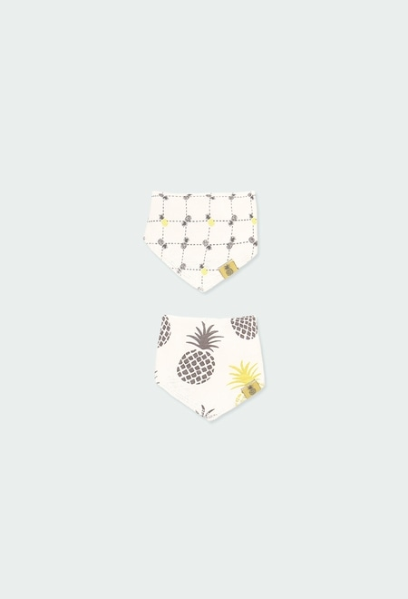 Pack 2 ribbed foulards for baby ORGANIC_1