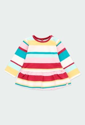 Kleid plüsch gestreift für baby - organic_1