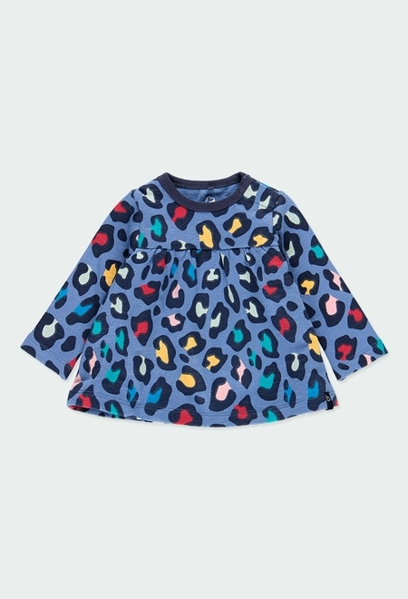 Vestido felpa animal print de bebé - orgánico_1