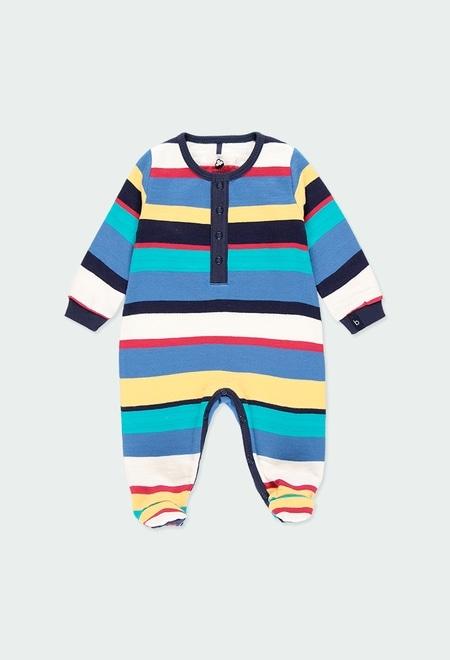 Fleece play suit flame for baby - organic_1