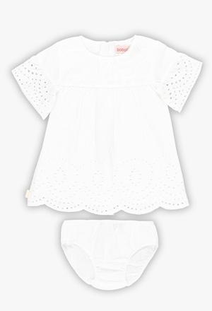Vestido batista bordada de bebé niña_1