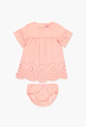 Batiste dress embroidered for baby girl_1
