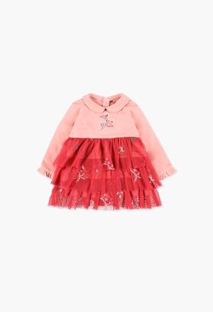 Vestido malha combinado para o bebé menina_1
