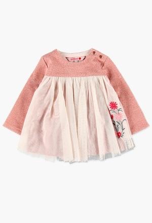 Vestido felpa combinado para o bebé menina_1