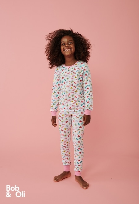 """Pijama """"borboleta"""" para menina - orgânico_1"""