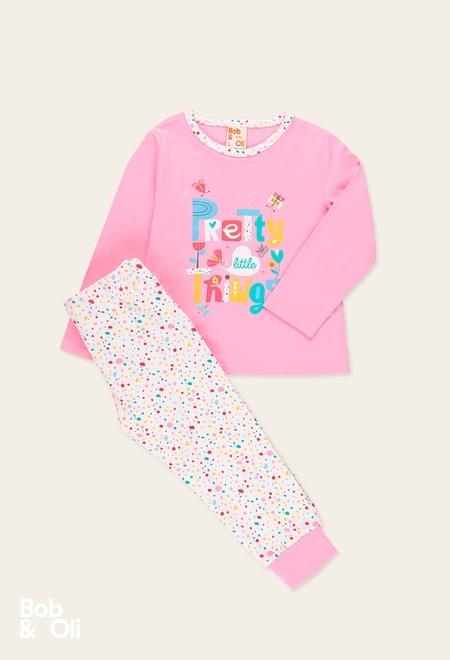 Knit pyjamas for girl - organic_1
