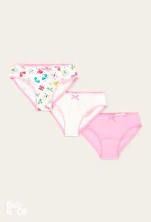 Pack 3 knickers for girl - organic_1