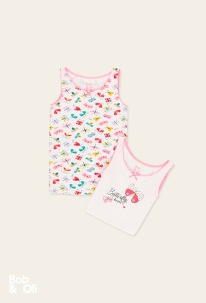Pack 2 camiseta para menina - orgânico_1