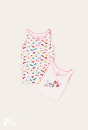 Pack de 2 t-Shirts pour fille - organique_1
