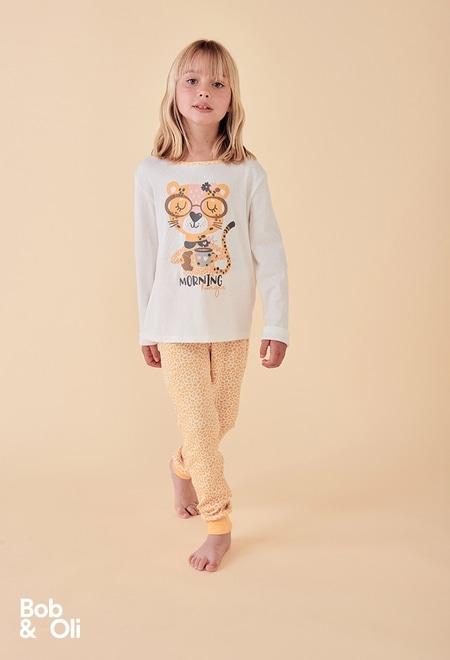 Pijama punto de niña - orgánico_1