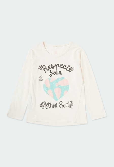 Camiseta punto flamé de niña ORGANIC_1