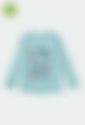 Camiseta punto flamé de niña ORGANIC