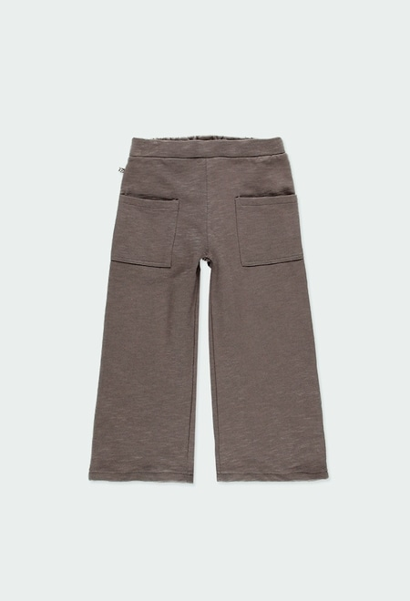 Fleece trousers flame for girl ORGANIC_1