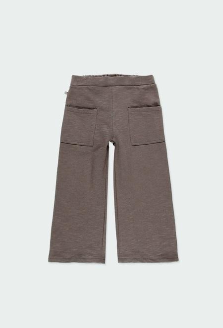 Pantalon en molleton flame pour fille ORGANIC_1