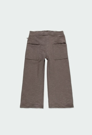 Fleece trousers flame for girl ORGANIC_1