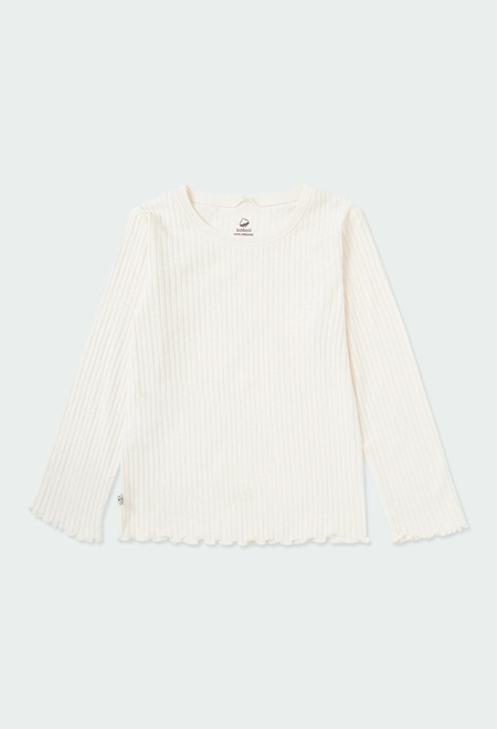 Knit t-Shirt for girl ORGANIC_1