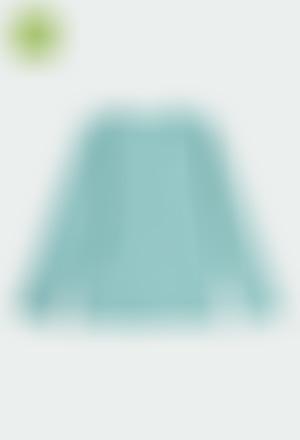Camiseta punto canalé de niña ORGANIC