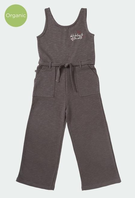 Jumpsuit fleece flame for girl ORGANIC_1