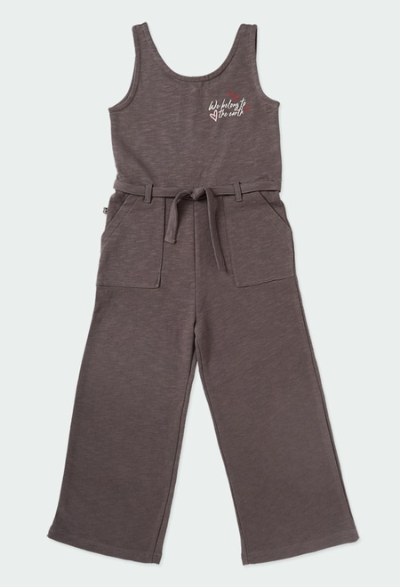 Jumpsuit fleece flame for girl ORGANIC_1