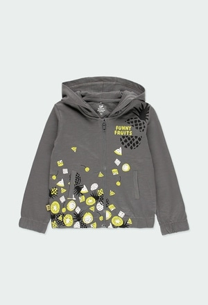 Fleece jacket flame for girl ORGANIC_1