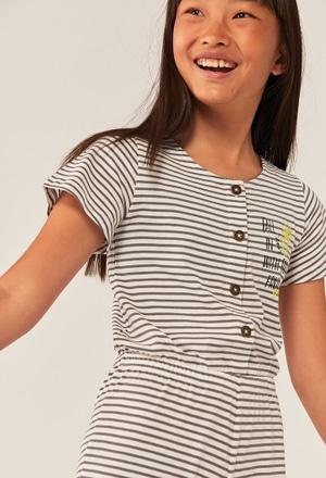 Tutina jersey a righe per ragazza ORGANIC_1
