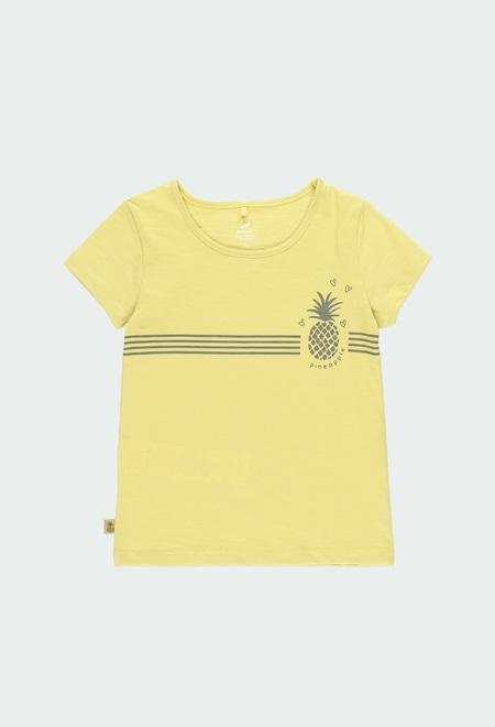 T-Shirt gestrickt flame für mädchen ORGANIC_1