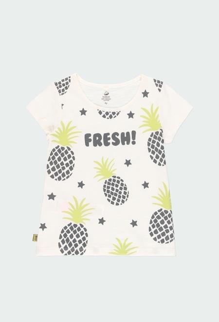 Knit t-Shirt pineapples for girl ORGANIC_1