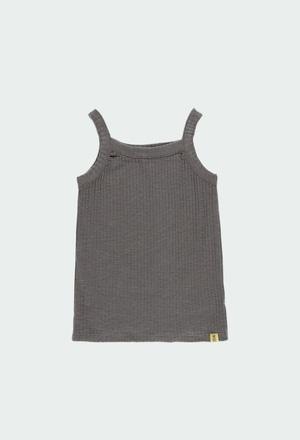 Camiseta punto canalé de niña ORGANIC_1