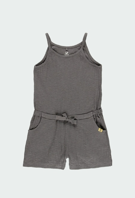 Knit jumpsuit for girl ORGANIC_1