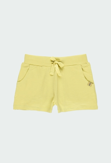 Knit shorts flame for girl ORGANIC_1
