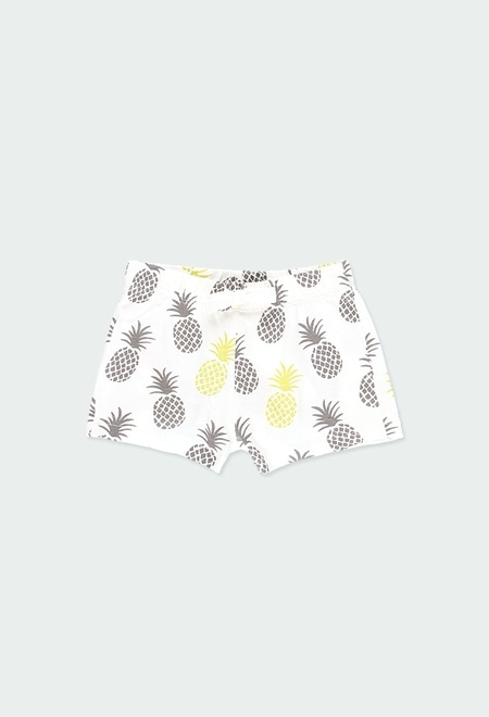 Knit shorts pineapples for girl ORGANIC_1