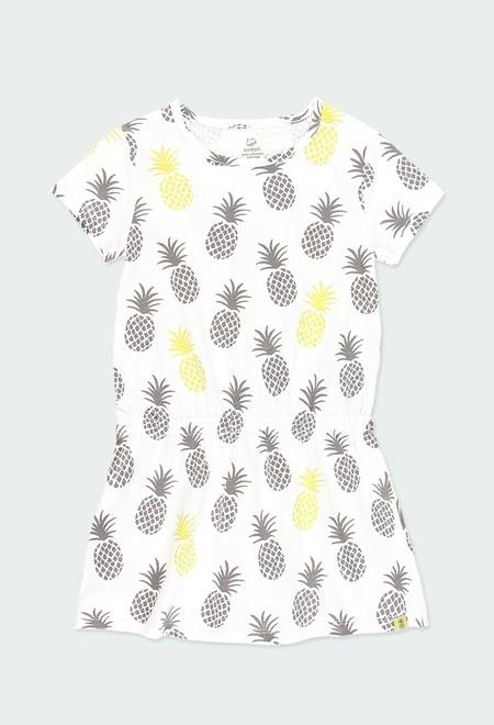 Kleid gestrickt für mädchen ORGANIC_1