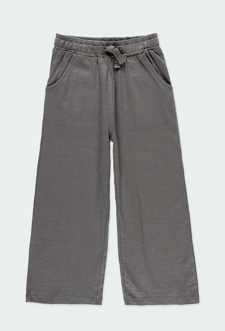 Knit trousers flame for girl ORGANIC_1