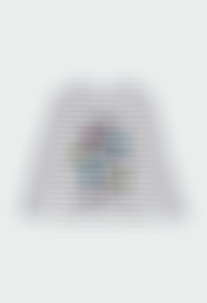 Camiseta punto listada de niña - orgánico