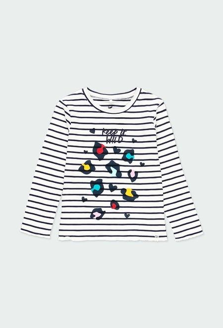 Camiseta punto listada de niña - orgánico_1