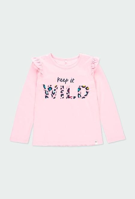 Camiseta punto flamé de niña - orgánico_1