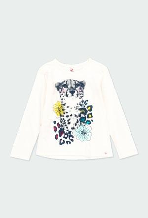 T-Shirt gestrickt flame für mädchen - organic_1