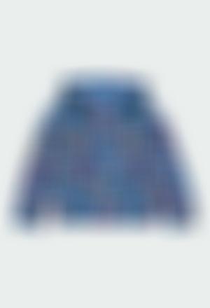 Fleece jacket flame for girl - organic