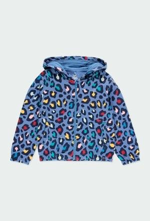 Fleece jacket flame for girl - organic_1